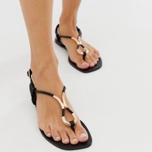 ASOS Design Falsify flat sandals Women's